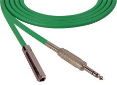 Sescom SC100SZSJZGN Audio Cable Canare Star-Quad 1/4 TRS Balanced Male to 1/4 TRS Balanced Female Green - 100 Foot