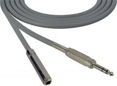 Sescom SC100SZSJZGY   Audio Cable Canare Star-Quad 1/4 Inch TRS Male to 1/4 Inch TRS Female Gray - 100 Foot