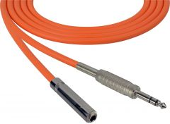 Sescom SC100SZSJZOE   Audio Cable Canare Star-Quad 1/4 Inch TRS Male to 1/4 Inch TRS Female Orange - 100 Foot