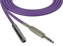Sescom SC100SZSJZPE Audio Cable Canare Star-Quad 1/4 TRS Balanced Male to 1/4 TRS Balanced Female Purple - 100 Foot