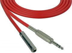 Sescom SC100SZSJZRD Audio Cable Canare Star-Quad 1/4 TRS Balanced Male to 1/4 TRS Balanced Female Red - 100 Foot