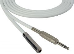 Sescom SC100SZSJZWE Audio Cable Canare Star-Quad 1/4 TRS Balanced Male to 1/4 TRS Balanced Female White - 100 Foot