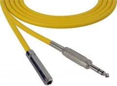 Sescom SC100SZSJZYW Audio Cable Canare Star-Quad 1/4 TRS Balanced Male to 1/4 TRS Balanced Female Yellow - 100 Foot