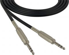 Sescom SC100SZSZ   Audio Cable Canare Star-Quad 1/4 Inch TRS Male to Male Black - 100 Foot