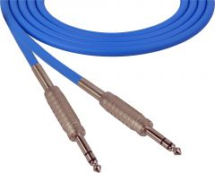 Sescom SC100SZSZBE   Audio Cable Canare Star-Quad 1/4 Inch TRS Male to Male Blue - 100 Foot