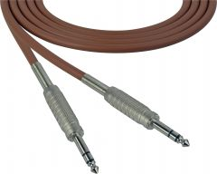 Sescom SC100SZSZBN   Audio Cable Canare Star-Quad 1/4 Inch TRS Male to Male Brown - 100 Foot