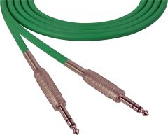 Sescom SC100SZSZGN   Audio Cable Canare Star-Quad 1/4 Inch TRS Male to Male Green - 100 Foot
