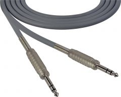 Sescom SC100SZSZGY Audio Cable Canare Star-Quad 1/4 TRS Balanced Male to 1/4 TRS Balanced Male Gray - 100 Foot