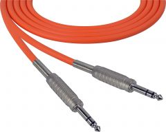 Sescom SC100SZSZOE   Audio Cable Canare Star-Quad 1/4 Inch TRS Male to Male Orange - 100 Foot