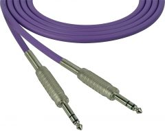 Sescom SC100SZSZPE   Audio Cable Canare Star-Quad 1/4 Inch TRS Male to Male Purple - 100 Foot