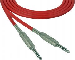 Sescom SC100SZSZRD   Audio Cable Canare Star-Quad 1/4 Inch TRS Male to Male Red - 100 Foot