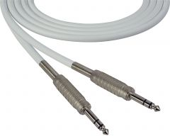 Sescom SC100SZSZWE   Audio Cable Canare Star-Quad 1/4 Inch TRS Male to Male White - 100 Foot
