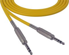 Sescom SC100SZSZYW Audio Cable Canare Star-Quad 1/4 TRS Balanced Male to 1/4 TRS Balanced Male Yellow - 100 Foot