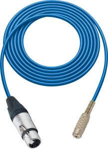 Sescom SC100XJMJBE Audio Cable Canare Star-Quad 3-Pin XLR Female to 3.5mm TS Mono Female Blue - 100 Foot