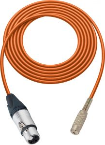 Sescom SC100XJMJZOE Audio Cable Canare Star-Quad 3-Pin XLR Female to 3.5mm TRS Balanced Female Orange - 100 Foot