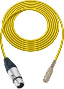 Sescom SC100XJMJZYW Audio Cable Canare Star-Quad 3-Pin XLR Female to 3.5mm TRS Balanced Female Yellow - 100 Foot