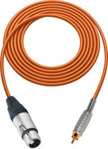 Sescom SC100XJROE Audio Cable Canare Star-Quad 3-Pin XLR Female to RCA Male Orange - 100 Foot