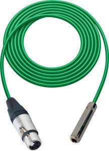 Sescom SC100XJSJGN Audio Cable Canare Star-Quad 3-Pin XLR Female to 1/4 TS Mono Female Green - 100 Foot
