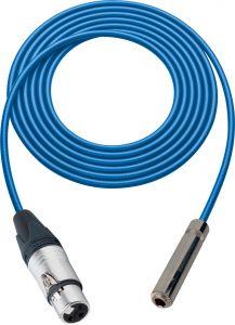 Sescom SC100XJSJZBE Audio Cable Canare Star-Quad 3-Pin XLR Female to 1/4 TRS Balanced Female Blue - 100 Foot