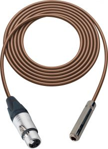 Sescom SC100XJSJZBN Audio Cable Canare Star-Quad 3-Pin XLR Female to 1/4 TRS Balanced Female Brown - 100 Foot