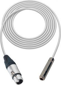 Sescom SC100XJSJZWE Audio Cable Canare Star-Quad 3-Pin XLR Female to 1/4 TRS Balanced Female White - 100 Foot