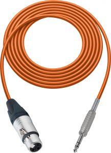 Sescom SC100XJSZOE Audio Cable Canare Star-Quad 3-Pin XLR Female to 1/4 TRS Balanced Male Orange - 100 Foot