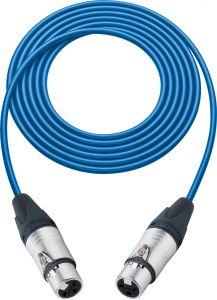 Sescom SC100XJXJBE Audio Cable Canare Star-Quad 3-Pin XLR Female to 3-Pin XLR Female Blue - 100 Foot
