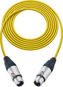 Sescom SC100XJXJYW   Audio Cable Canare Star-Quad 3-Pin XLR Female to 3-Pin XLR Female Yellow - 100 Foot