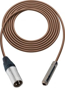 Sescom SC100XSJZBN Audio Cable Canare Star-Quad 3-Pin XLR Male to 1/4 TRS Balanced Female Brown - 100 Foot