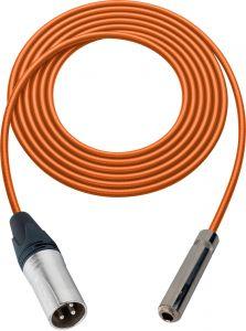 Sescom SC100XSJZOE Audio Cable Canare Star-Quad 3-Pin XLR Male to 1/4 TRS Balanced Female Orange - 100 Foot