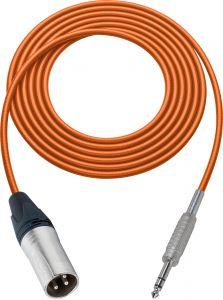 Sescom SC100XSZOE Audio Cable Canare Star-Quad 3-Pin XLR Male to 1/4 TRS Balanced Male Orange - 100 Foot