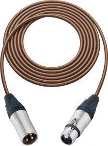 Sescom SC100XXJBN Mic Cable Canare Star-Quad 3-Pin XLR Male to 3-Pin XLR Female Brown - 100 Foot