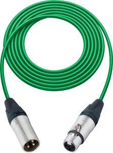 Sescom SC100XXJGN   Mic Cable Canare Star-Quad 3-Pin XLR Male to 3-Pin XLR Female Green - 100 Foot