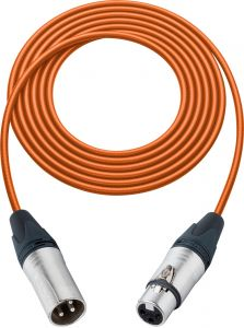 Sescom SC100XXJOE   Mic Cable Canare Star-Quad 3-Pin XLR Male to 3-Pin XLR Female Orange - 100 Foot