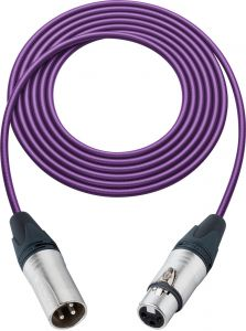 Sescom SC100XXJPE   Mic Cable Canare Star-Quad 3-Pin XLR Male to 3-Pin XLR Female Purple - 100 Foot