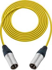 Sescom SC100XXYW   Audio Cable Canare Star-Quad 3-Pin XLR Male to 3-Pin XLR Male Yellow - 100 Foot