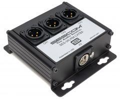 Sescom SES-3XLRM-CATBX 3 Channel Passive Balanced Audio Extender over CAT 5/6/7 - RJ45 to 3 Male XLR Connectors