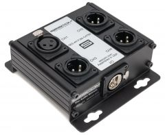 Sescom SES-4X1F3M-CATBX 4 Channel Passive Balanced Audio Extender over CAT 5/6/7 - RJ45 to 1 Female & 3 Male XLR
