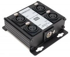 Sescom SES-4XLRF-CATBX 4 Channel Passive Balanced Audio Extender over CAT 5/6/7- RJ45 to 4 Female XLR Connectors