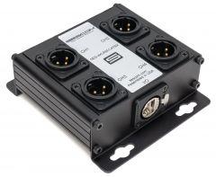 Sescom SES-4XLRM-CATBX 4 Channel Passive Balanced Audio Extender over CAT 5/6/7 - RJ45 to 4 Male XLR Connectors