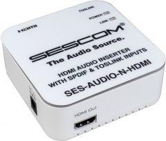 Sescom SES-AUDIO-N-HDMI L/R RCA Analog Audio & Toslink to HDMI Audio Inserter