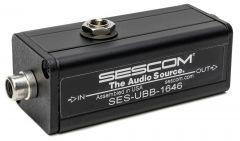 Sescom SES-UBB-1646 Audio Converter 1-Channel RCA Unbalanced to XLR Balanced