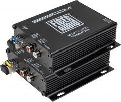 Sescom SES-X-FA2LRL01 X-FA2LRL01 2-Channel RCA Audio Over Fiber Extender Tx/Rx Transceiver Set - LC Connectors