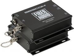 Sescom SES-X-FA2LRT01   Audio over Fiber Tx/Rx EXTENDER: 2 CH Unbalanced RCA Line Level Audio Over Simplex ST Fiber Port