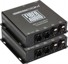 Sescom SES-X-FA2LXBT01 Audio over Fiber EXTENDER- 2 CH Balanced XLR Bi-Directional Line Level Audio & ST Fiber Connect