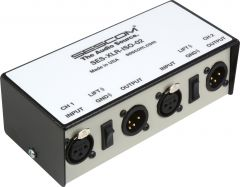 Sescom SES-XLR-ISO-02   Two Channel XLR Audio Isolation Transformer