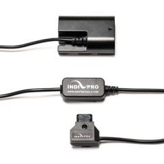"Indipro Tools SHPTE6 Power Converter D-Tap to Canon LP-E6 Dummy Battery for SmallHD Monitors (30"")"