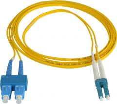 Camplex SMD9-LC-SC-100 100-Meter 9u/125u Fiber Optic Patch Cable Singlemode Duplex LC to SC - Yellow