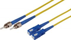 Camplex SMD9-ST-SC-030 30-Meter 9u/125u Fiber Optic Patch Cable Singlemode Duplex ST to SC - Yellow