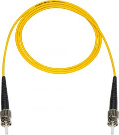 Camplex SMS9-ST-ST-100 100-Meter 9u/125u Fiber Optic Patch Cable Singlemode Simplex ST to ST - Yellow